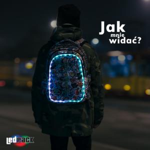 Świecące plecaki LED - bezpieczeństwo na drodze i świetny styl.